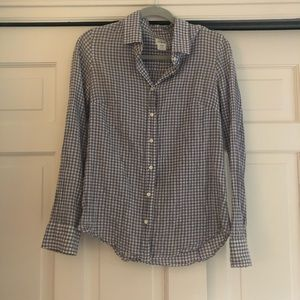 JCrew light purple gingham button down